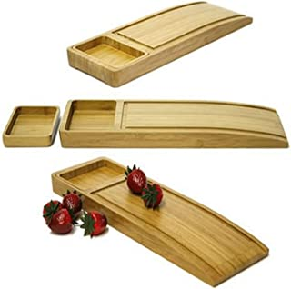Mango Leaf 91049 Bamboo ChopSlope with Condiment Tray