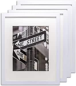 """4 套白色相框 4 Sets of 8"""" X 10"""" White Frames 4 pcs 8x10 inches white wood frame unknown"""