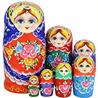 YAKELUS 7 件俄罗斯美食娃娃 Matryoshka 手工制作0701