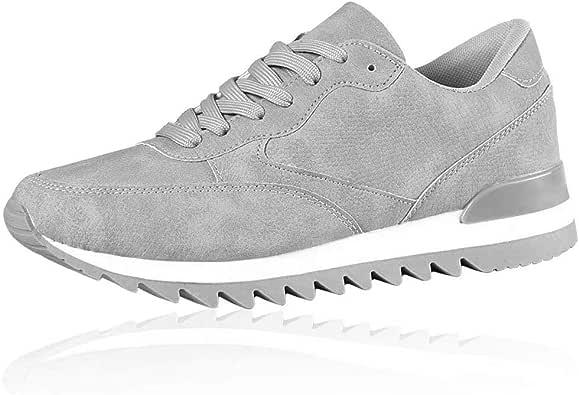 AGSDON 女式交叉训练鞋,舒适网球运动鞋 - 适合跑步、散步、健身 灰色 9 M US
