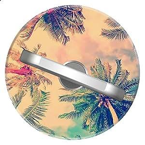 SunbirdsEast 功能性创意银色电话和 iPad[磁性车架] 可扩展 360° 旋转环支架手柄支架 Palm Tree