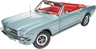 Auto World 1965 American MuscleFord Mustang 敞篷车,银烟灰色 - AMM1103 - 1/18 比例压铸模型玩具车