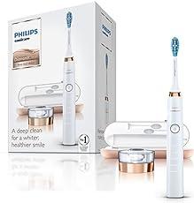 Philips 飞利浦Sonicare DiamondClean钻石亮白型 3代电动牙刷 玫瑰金色 (英国版2孔浴室插头,通用电压,仅需转换插头,附带智能USB旅行充电盒)