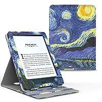 美国MoKo 亚马逊Kindle Paperwhite保护套(适用于1代/2代/3代) KPW3垂直翻转保护皮套 适配全新Kindle Paperwhite 958元版多角度支撑保护套 翻盖休眠亚马逊电子书阅读器保护壳 梵高 星空
