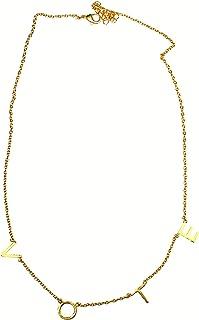 TERRAACRAFT :手工制作米歇尔奥巴马投票项链,手工抛光金色表面(不含铅和镍)。45.72 厘米长度带可调节钩子。