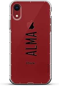 Luxendary Air 系列透明硅胶外壳LUX-I9AIR-NMALMA2 NAME: ALMA, MODERN FONT STYLE 透明