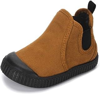 MK MATT KEELY 幼童温暖及踝马丁靴男童女童麂皮靴户外休闲鞋