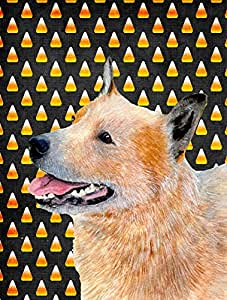 Australian Cattle Dog Candy Corn Halloween Portrait Flag 多色 大
