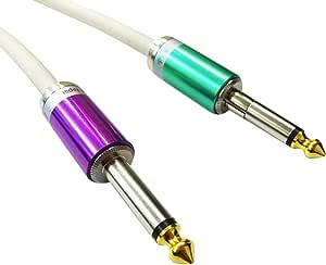 【Live Line】Advance系列 6M S/S插头 白色电缆 S型插头(紫色)-S型FIT插头(绿色)定制品 AELLLAWH06MSSFPpGr