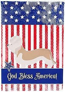 Caroline's Treasures BB8393CHF Dandie Dinmont Terrier 美国帆布旗,多色