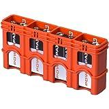 Powerpax SlimLine 9V Storacell 4 只装电池盒 Holds 4 Batteries SL9VORG