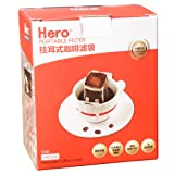 Hero 挂耳咖啡滤纸 便携滤泡式手冲咖啡滤杯过滤网 滤袋 日本进口(供应商直送)