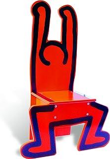 Vilac Keith Haring 木制椅,红色