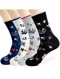 男士水手礼服袜 4 双装礼品选择