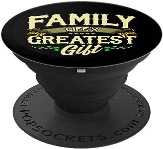 Family Life *棒的礼物家庭日 PopSockets 手机和平板电脑握架260027  黑色
