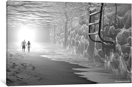 iCanvasART TBY24 Sunbathing Canvas Print by Thomas Barbey, 26 by 18-Inch, 0.75-Inch Deep