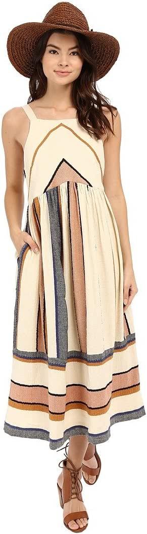 Free People Bloom Midi Dress medium natural