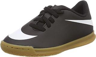 Nike JR bravatax II IC - 儿童房间足球拖鞋,中性款,黑色 - (黑色/白色-黑色)