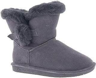 Bearpaw 休闲靴女童 5 1/4 英寸 Betsey 青年(13 码,灰色雾色)
