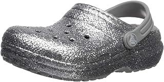 Crocs 卡骆驰儿童经典闪光内衬洞鞋