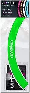 rimSkin Deep V Machined Single Wheel Rim Skin Pack for Road/Fixed Gear/Track Bike, Fluorescent Green, 700c (30mm)