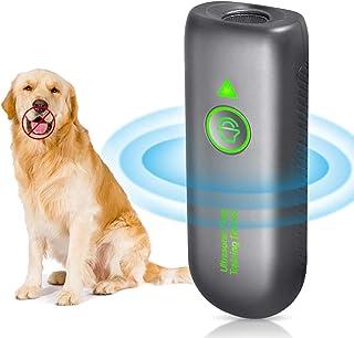 狗吠消声器,宠物温和狗吠威慑装置,2合1控制范围16.4英尺/防静电腕带 LED 指示,止吠器 + 良好行为狗狗训练,狗哨