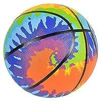 7 英寸(约 17.8 厘米)扎染迷你篮球 - 适合室内和室外使用 - 小篮球非常适合初学者 - 有趣的扎染颜色会给游戏带来额外乐趣 - 适合 3 岁以上儿童