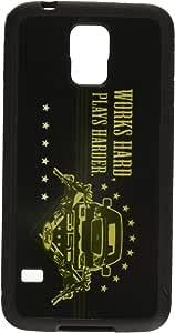 带扣式手机壳适用于 Galaxy S5 - F-150 WORKS HARDER/Stars 黑色/褐色/橄榄色 - 福特卡车CC-FTF-GS5 Samsung Galaxy S5 Ford Trucks