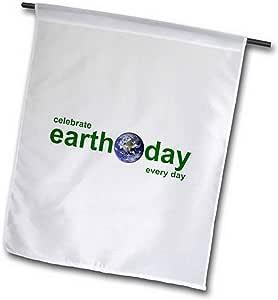 3dRose fl_16019_2 庆祝地球日花园旗,45.72 x 68.58cm