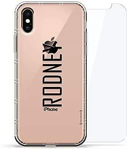 旗帜:Luxendary Air 系列 360 束:透明硅胶保护套,3D 打印设计和气囊缓冲缓冲垫 + 适用于 iPhone Xs Max 的钢化玻璃LUX-IXPLAIR360-NMRODNEY2 NAME: RODNEY, MODERN FONT STYLE 透明