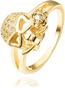 MBOX Premier 品质女士时尚设计抗色抛光戒指 Gold - 23 7