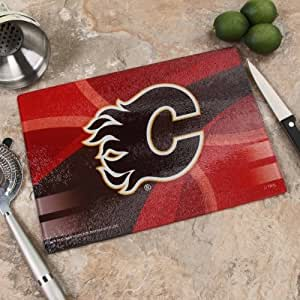 "The Memory Company NHL Calgary Flames 8"" x 11.75"" 碳纤维砧板,均码,多色"