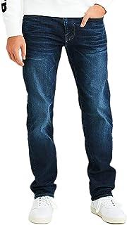 American Eagle 男式 4667521 Ne(x) t 级Airflex 原创直筒牛仔裤,深色靛蓝