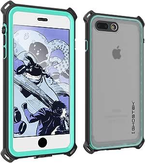 iPhone 7 Plus 防水手机壳,Ghostek 航海系列苹果 iPhone 8 Plus | 超薄水下保护 | 防震 | 防尘 | 防雪 | 保护 | 冒险旅行 | 游泳GHOCAS547 蓝*