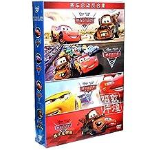 汽车赛车总动员1-4合集 4DVD电影光盘 正版迪士尼动画片中英文DVD9碟片