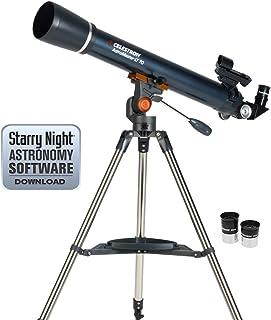 Celestron 21061 Astromaster 70AZ Refractor 望远镜21074 Astromaster LT 70S AZ 反射器 黑色