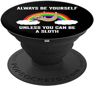 除非是滑稽的滑道,永远都是自己 - 有趣的滑稽的礼物 PopSockets 手机和平板电脑握架260027  黑色