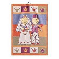 瑞典Ekelund 北欧纯棉餐垫方巾挂巾擦手巾盖布喜庆婚庆节日礼品 Honeymoon蜜月