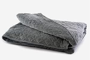 "DensityComfort 优质加重毛毯 — 帮助安xiety、Stress、ADHD、Insomnia、Autism、Agitation、OCD 成人儿童 — 152.4 x 203.2 厘米 Diamond Duvet Cover 48x72"" Duvet Covers DC4872-DM"