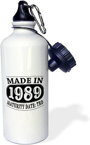 3dRose wb_212520_1 1989年制造 - 成熟日期 TDB - 运动水瓶,21 盎司