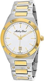 MATTHEY-TISSOT 男士 Eliser 石英不锈钢表带 多色 22 休闲手表 (型号:H680BS)