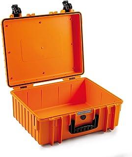 B&W outdoor.cases 户外行李箱 6000/O (空,运输箱防碎,保护箱,橙色,防尘箱,防水)6000/O