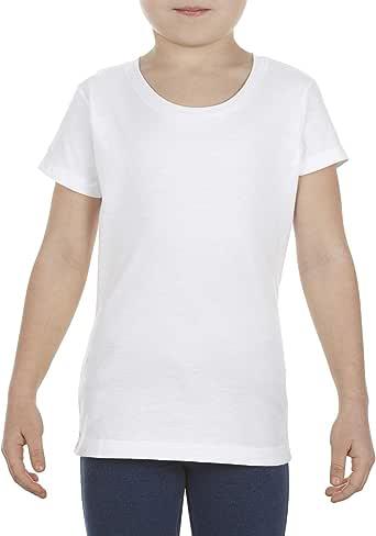 Marky G Apparel 女童大环纺棉短袖 T 恤(2 件装),白色,XS