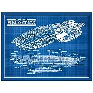 "SPSYFIGalactica 蓝格栅 - 白色墨水 18"" x 24"" SP_SYFI_Galactica_BG_24_W"