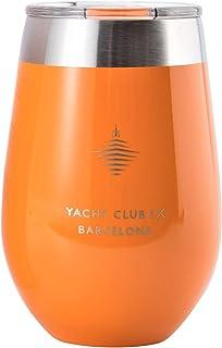 Yacht Club LX *杯 340.19 毫升带盖子,真空隔热,双层不锈钢杯,适用于划船、户外、露营。 防碎防烫 Barcelona Orange 12 oz Single unknown