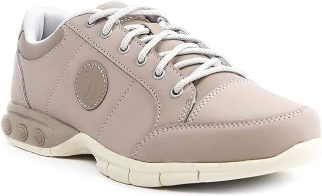 Therafit Shoe 女式伦敦皮革运动牛津步行鞋 米色 7 M US