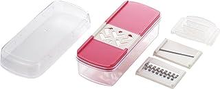 TAFKO 日本制 Five Life 切片机套装 (磨刀器、粗千切割器、切片器) 粉色 E-2192