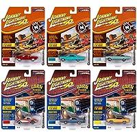 Johnny 闪电肌肉汽车总动员 USA 2019 Set B - 1:64 比例压铸汽车 6 件装 - 适于收藏的模型汽车 适用于儿童和成人 - 限量版