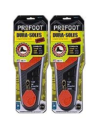 PROFOOT Dura-Sole 男式鞋垫8-13 1 双,长效鞋垫专为那些在脚上工作的人而设计,气味控制三重凝胶保护鞋垫 2份 2
