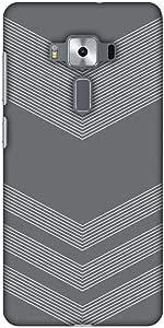 amzer 设计师修身扣带屏幕护理套装用于 zenfone 3豪华 zs570kl Carbon Fibre Redux Stone Gray 2